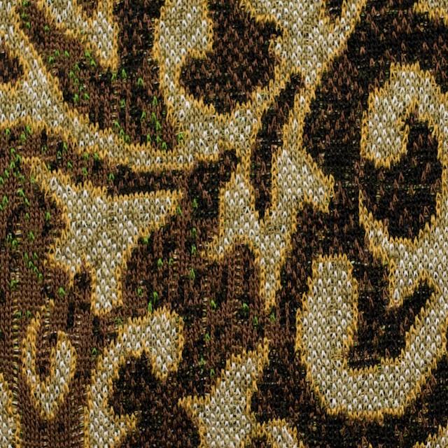 アクリル&ウール×幾何学模様(ブラウンミックス)×ジャガードニット_全3色 イメージ1