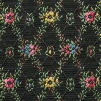 コットン×フラワー(ブラック)×ジャガード サムネイル1