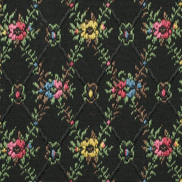 コットン×フラワー(ブラック)×ジャガード イメージ1