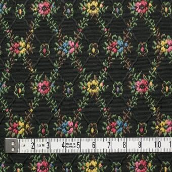 コットン×フラワー(ブラック)×ジャガード サムネイル4