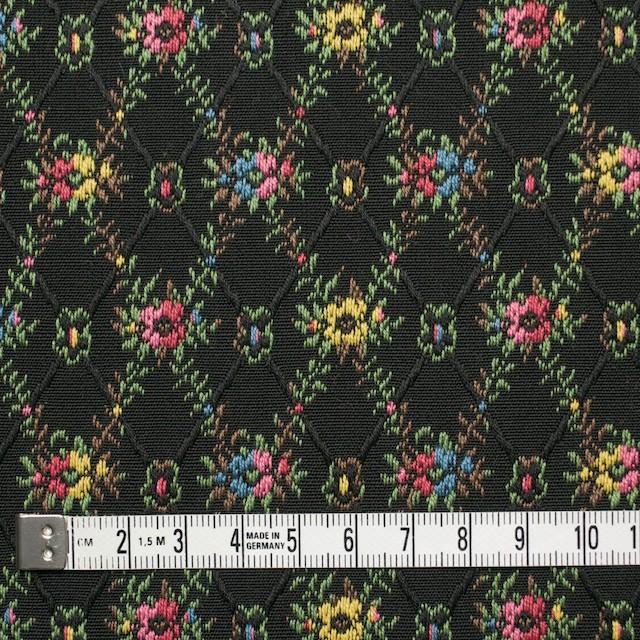 コットン×フラワー(ブラック)×ジャガード イメージ4
