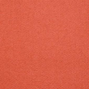 ウール&ナイロン×無地(ルビーオレンジ)×フラノ(フランネル) サムネイル1