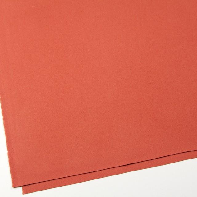 ウール&ナイロン×無地(ルビーオレンジ)×フラノ(フランネル) イメージ2