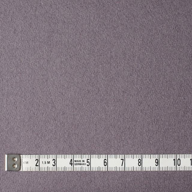 ウール&ナイロン×無地(パープルグレー)×メルトン イメージ4