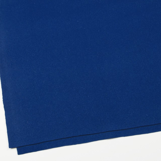 ウール&ナイロン×無地(ブルー)×メルトン イメージ2