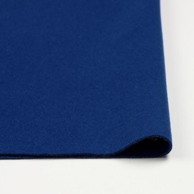ウール&ナイロン×無地(ブルー)×メルトン イメージ3