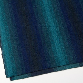 テンセル&ウール×グラデーション(ブルーミックス)×アストラカン サムネイル2