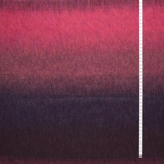 ウール×グラデーション(ストロベリーレッド&ネイビー)×シャギー イメージ4