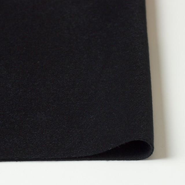 ウール&カシミア×無地(ブラック)×ビーバー イメージ3