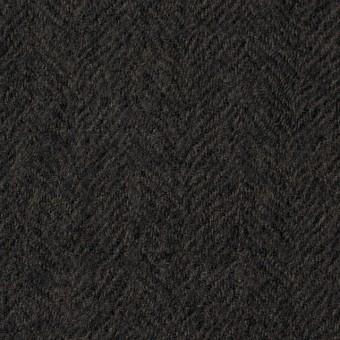 ウール×無地(ダークブラウン)×ヘリンボーンガーゼ_全2色 サムネイル1
