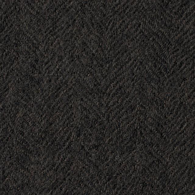 ウール×無地(ダークブラウン)×ヘリンボーンガーゼ_全2色 イメージ1