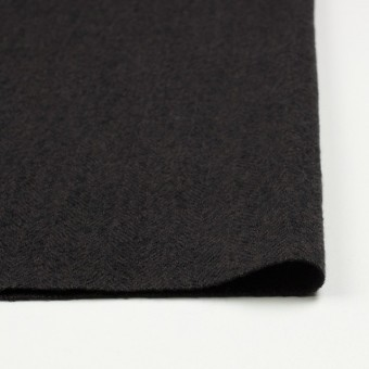 ウール×無地(ダークブラウン)×ヘリンボーンガーゼ_全2色 サムネイル3