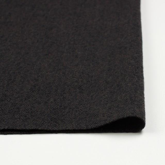 ウール×無地(ダークブラウン)×ヘリンボーンガーゼ_全2色 イメージ3