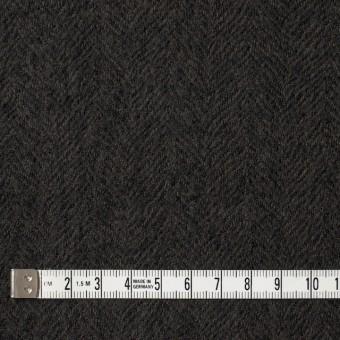 ウール×無地(ダークブラウン)×ヘリンボーンガーゼ_全2色 サムネイル4