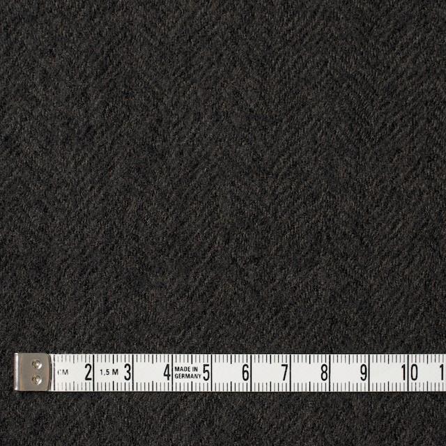 ウール×無地(ダークブラウン)×ヘリンボーンガーゼ_全2色 イメージ4