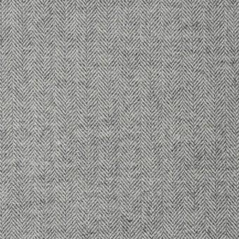 ウール&コットン×無地(ライトグレー)×ヘリンボーン サムネイル1