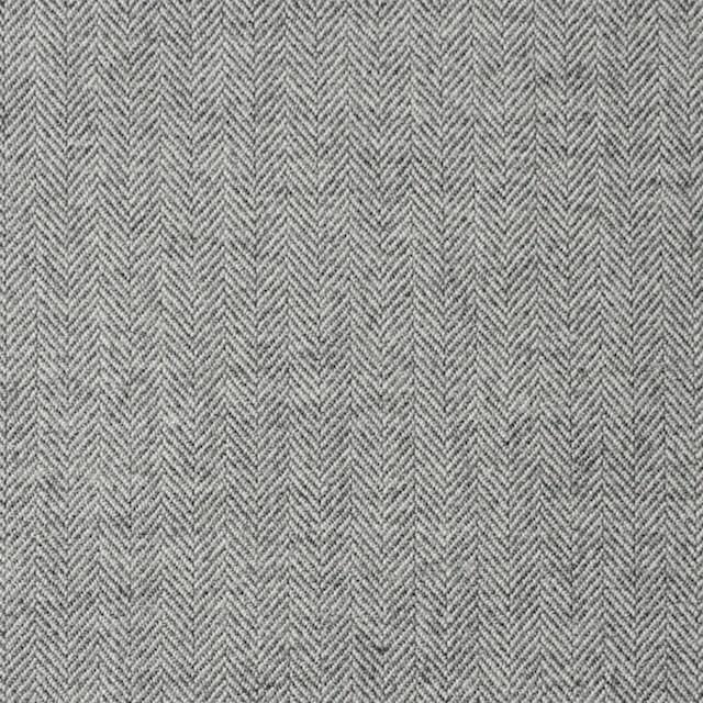 ウール&コットン×無地(ライトグレー)×ヘリンボーン イメージ1