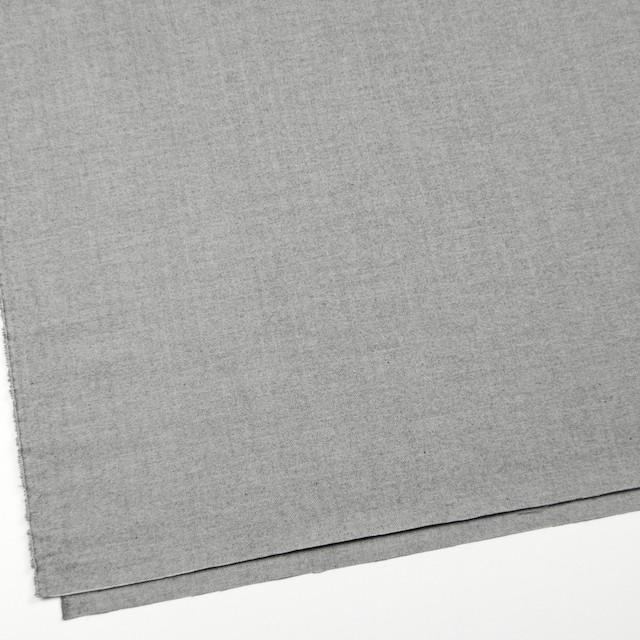 ウール&コットン×無地(ライトグレー)×ヘリンボーン イメージ2