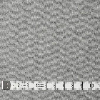 ウール&コットン×無地(ライトグレー)×ヘリンボーン サムネイル4