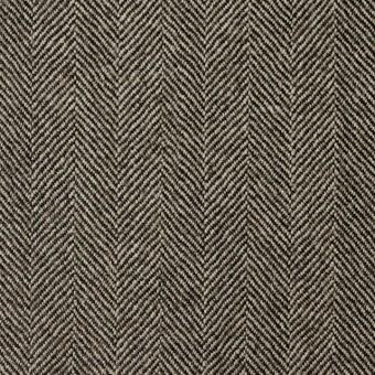 ウール×無地(ダークブラウン)×ヘリンボーン サムネイル1