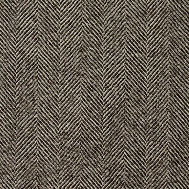 ウール×無地(ダークブラウン)×ヘリンボーン イメージ1
