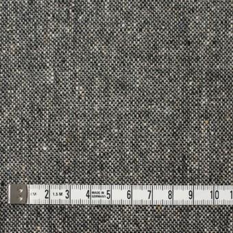 ウール&ポリウレタン×無地(チャコールグレー)×ツイードストレッチ サムネイル4