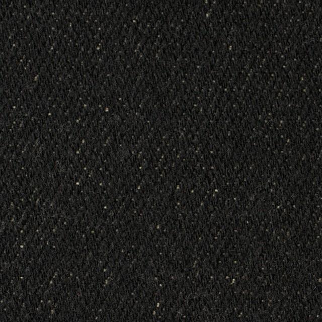 ウール&コットン×無地(ブラック)×厚ビエラ_全2色 イメージ1