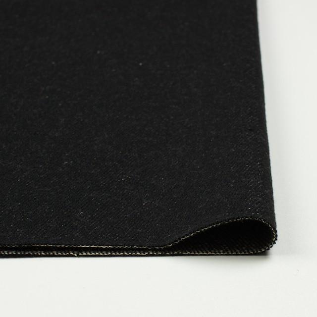 ウール&コットン×無地(ブラック)×厚ビエラ_全2色 イメージ3