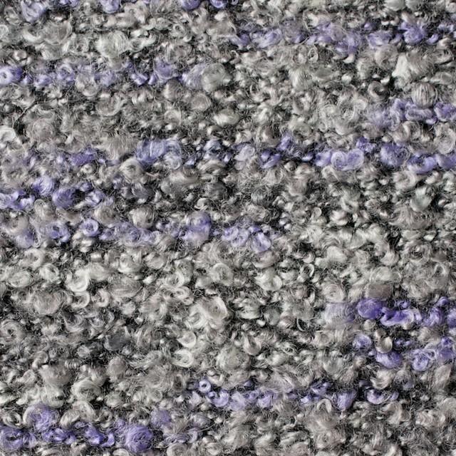 ポリエステル&アクリル混×パープルミックス×ループニット_全3色 イメージ1