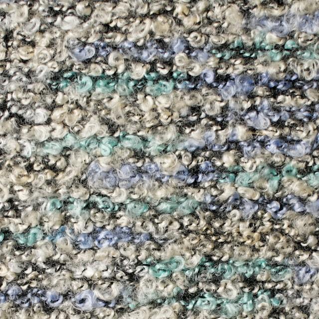 ポリエステル&アクリル混×ブルーミックス×ループニット_全3色 イメージ1