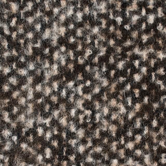 ウール&カシミア×ブラウンミックス×ファンシーツイード_イタリア製 イメージ1