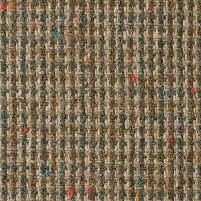 ウール&ポリエステル混×ミックス(ベージュ&スレートグリーン)×千鳥格子ツイード イメージ1