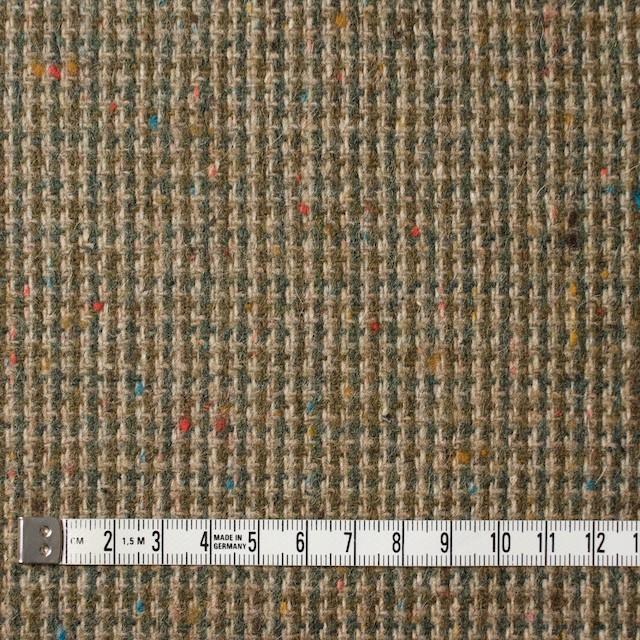 ウール&ポリエステル混×ミックス(ベージュ&スレートグリーン)×千鳥格子ツイード イメージ4
