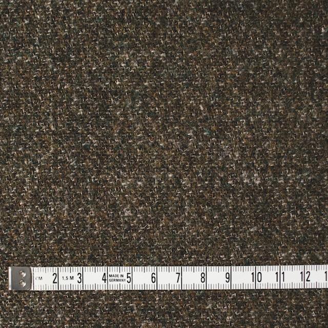 ウール×無地(カーキミックス)×二重梨地織 イメージ4