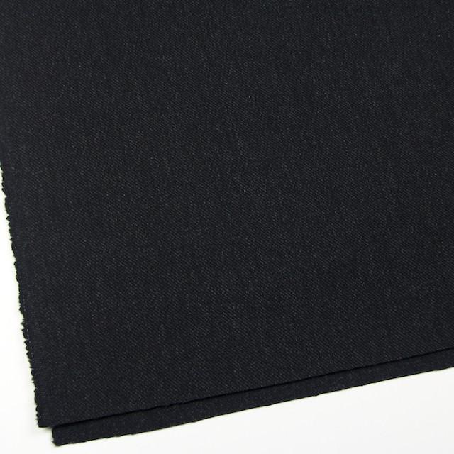 ウール×無地(ブラック)×厚カルゼ イメージ2
