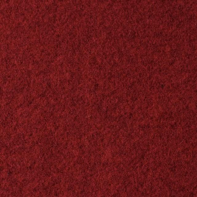 ウール×無地(レッド&チャコールグレー)×Wフェイスメルトン_イタリア製 イメージ1