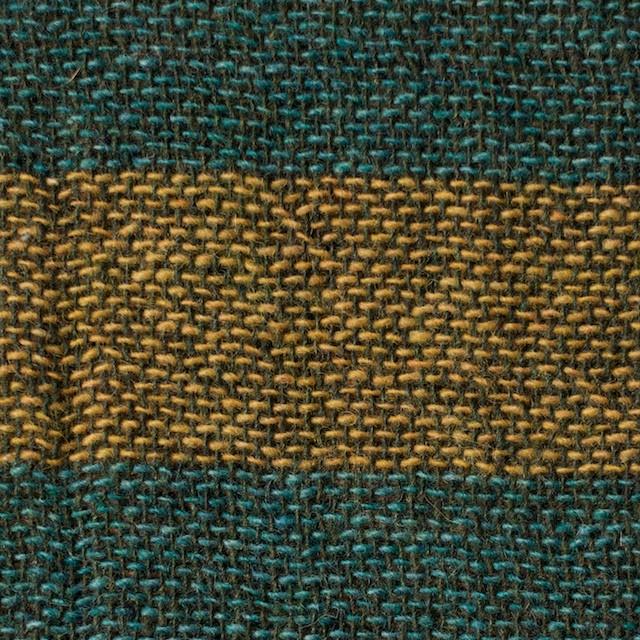 ウール&ポリエステル混×ボーダー(ターメリック&アクアブルー)×Wガーゼ イメージ1