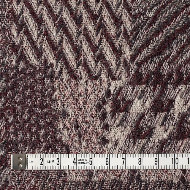 ウール×幾何学模様(エンジ)×ジャガードガーゼ_全3色 イメージ4