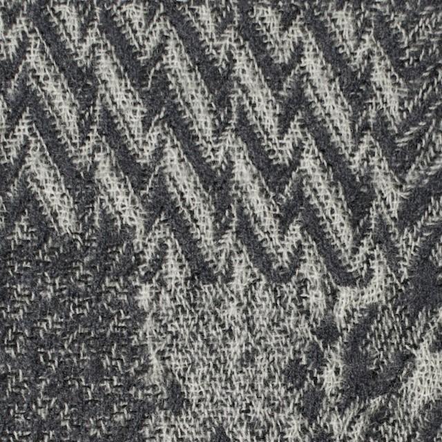 ウール×幾何学模様(グレー)×ジャガードガーゼ_全3色 イメージ1