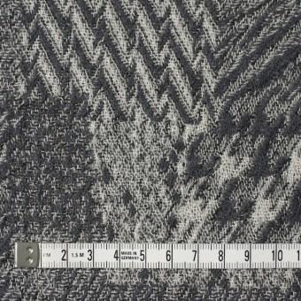 ウール×幾何学模様(グレー)×ジャガードガーゼ_全3色 サムネイル4