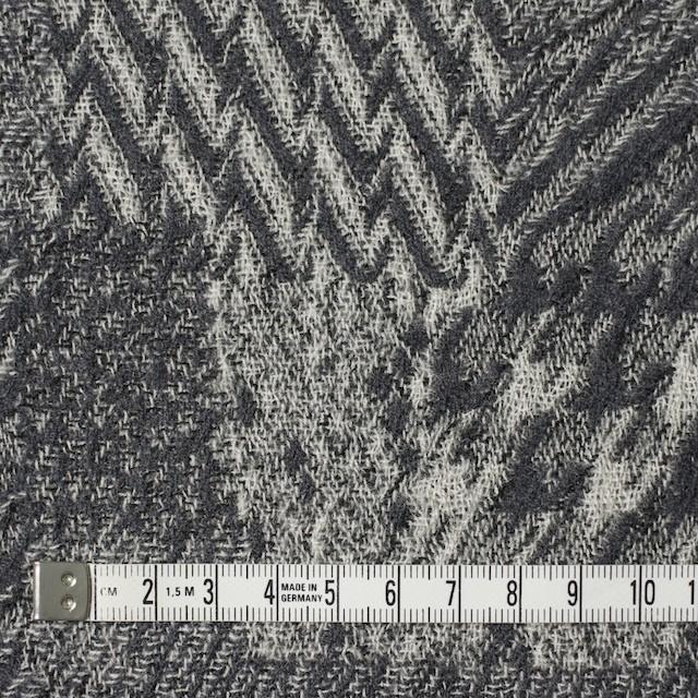 ウール×幾何学模様(グレー)×ジャガードガーゼ_全3色 イメージ4