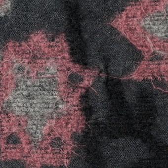 ウール×フラワー(ピンク&グレー)×ジャガードニット サムネイル1
