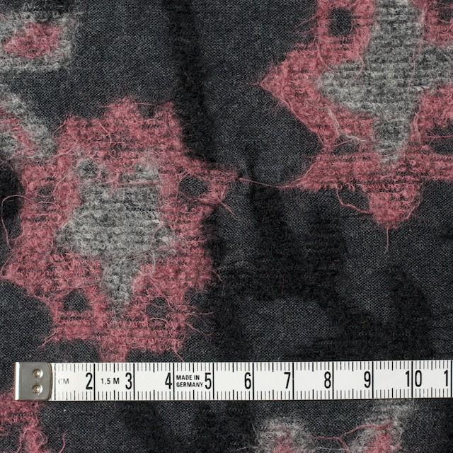 ウール×フラワー(ピンク&グレー)×ジャガードニット イメージ4