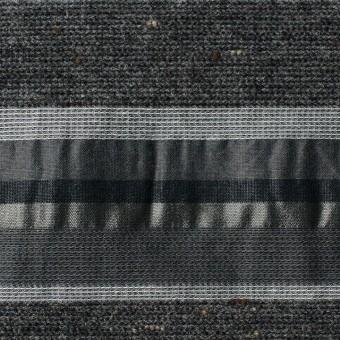 ナイロン&コットン混×ボーダー(グレーミックス×タフタジャガード サムネイル1
