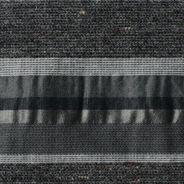 ナイロン&コットン混×ボーダー(グレーミックス×タフタジャガード イメージ1