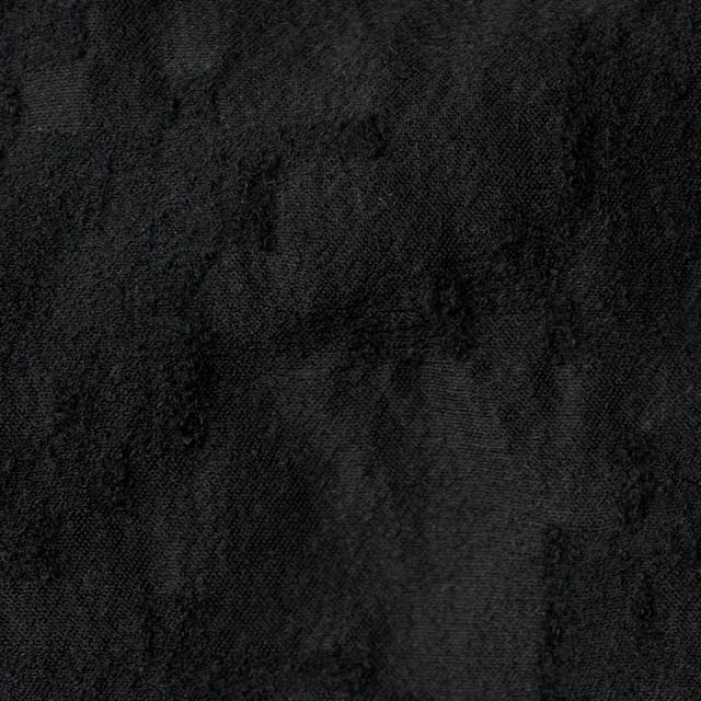 ウール&コットン混×無地(ブラック)×バックサテンジャガード イメージ1