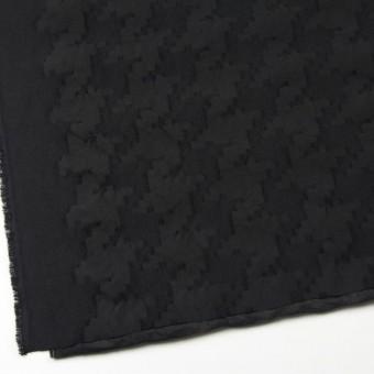 ウール&コットン混×無地(ブラック)×バックサテンジャガード サムネイル2