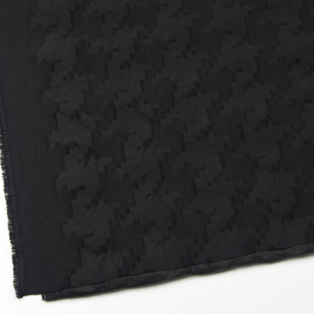 ウール&コットン混×無地(ブラック)×バックサテンジャガード イメージ2