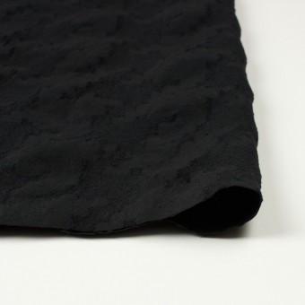 ウール&コットン混×無地(ブラック)×バックサテンジャガード サムネイル3