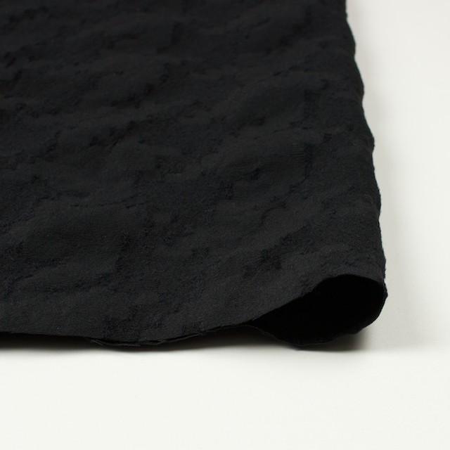 ウール&コットン混×無地(ブラック)×バックサテンジャガード イメージ3